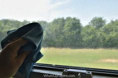 how to clean hard water spots from windows
