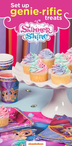 Grant your child's wish with a Shimmer and Shine themed party. Brightly colored party supplies will take guests on a magical adventure. From gifts to goodie bags, find everything you need to throw a memorable birthday bash featuring your favorite Nickelodeon show, including Shimmer and Shine party plates, napkins and other party supplies and decorations.