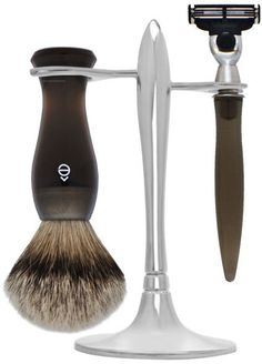 Pin for Later: 40 Great Grooming Gifts For Your Guy eShave T-Stand Shave Set eShave T-Stand Shave Set Smoke (£171)