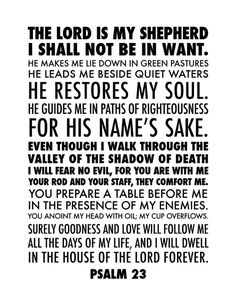 @kristen stewart  did a custom design of Psalm 23 //  free printable. This is the older NIV text (1984.)