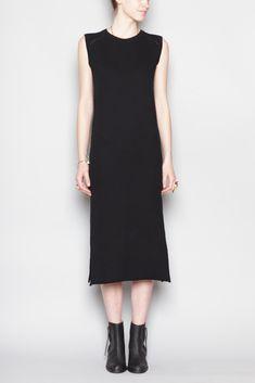 Complex Geometries Pillar Tank Dress (Black)