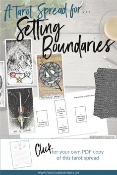 Print out the PDF Tarot Spread for Setting Boundaries to help you create and maintain healthy boundaries with the people you love. Tarot Card Spreads, Tarot Cards, Self Development, Personal Development, Tarot Astrology, Setting Boundaries, Tarot Learning, Tarot Card Meanings, Tarot Readers