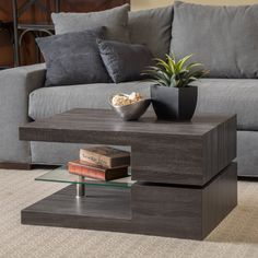 Coffee Table Rectangle, Small Coffee Table, Cool Coffee Tables, Coffee Table Design, Coffee Table With Storage, Modern Centre Table Designs, Center Table Living Room, Living Area, Floor Shelf
