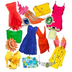 I love these colorful bright spring colors! Perfect outfit I created!
