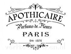 sjabloon Apothicaire Paris