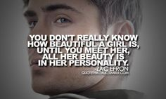 coming from a guy like Zac Efron, i think i'm in love Cute Quotes, Great Quotes, Quotes To Live By, Inspirational Quotes, Fun Sayings, Random Quotes, Amazing Quotes, Girl Quotes, Motivational