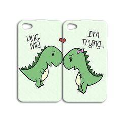 Cute Dinosaur Pair Case For Apple iPhone 6