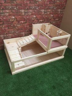 Guinea Pig Enclosure with side loft