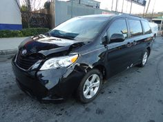 SalvageZone - 2013 TOYOTA SIENNA XLE for sale  THIS IS A SALVAGE REPAIRABLE VEHICLE WITH FRONT END DAMAGE . THE VEHCLE RUNS , DRIVES , HAS NAVIGATION , LEATHER INTERIOR AND ENTERTAINMENT SYSTEM.For more information and immediate assistance, please call +1-718-991-8888