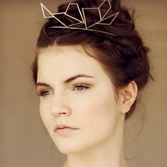 Geometric Silver Crown Tiara by MaggieMowbrayHats on Etsy, £400.00