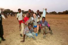 Greenpop intern Ruthie gets super excited for soccer at Bharat field! #TreesforZambia