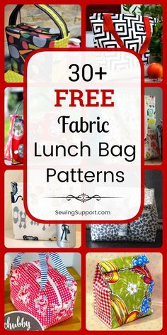 Lunch Bag Diy: Over 30 free lunch bag patterns sewing projects and tutorials including insulated drawstring and tote styles. Instructions for how to make a fabric lunch bag box or sack. Great for kids and back to school. Bag Patterns To Sew, Sewing Patterns Free, Free Sewing, Sewing Hacks, Sewing Tutorials, Sewing Tips, Sewing Crafts, Sewing Ideas, Bag Lunch