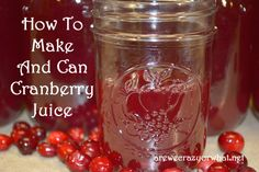 How to make and can cranberry juice from fresh or frozen cranberries.