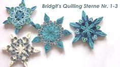 Bridgit's Quilling Stern Nr. 1-3 / Bridgit's Quilling Star Nr. 1-3 (Tutorial)