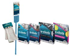Super-easy cleaning with E Cloths Green Clean. Eco-friendly, less chemicals.