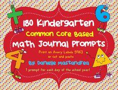 Krazee 4 Kindergarten: 180 Kindergarten Math Journal Prompts- Common Core Based