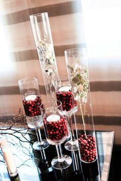 Reception Décor- Love this for a winter wedding- similar to the corn center pieces I have on my fall wedding board!