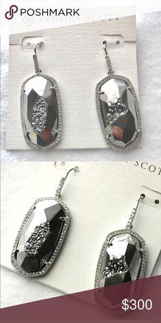 Kendra Scott Platinum Ellen Drusy Earrings! Kendra Scott Ellen Drusy Earrings! NWT! Gorgeous Earrings! Comes with Kendra Scott dust bag, care card, and box! Kendra Scott Jewelry Earrings