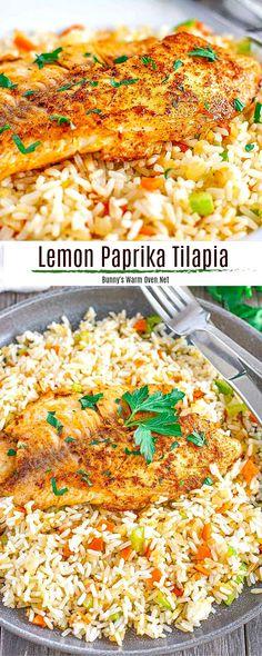 Rice Side Dishes, Best Tilapia Recipe, Tilapia Dinner Recipe, Healthy Dinner Recipes, Cooking Recipes, Healthy Tilapia Recipes, Budget Recipes, Fish Recipes, Zucchini