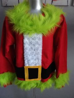 Ugly Christmas Sweater The Grinch Santa Sizes available