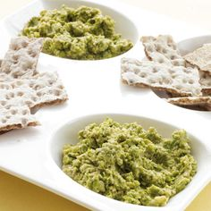 Pea Walnut Hummus (even more fiber and healthy fats than the regular kind)   http://www.health.com/health/recipe/0,,10000002002186,00.html#