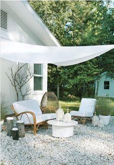 garden idea - create outdoor seating area