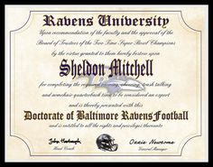 Baltimore Ravens NFL football novelty fan by AllSportsPrints