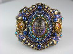 Beaded Jewelry Bead Embroidery Wide Statement Cuff door LiTelle, $245.00