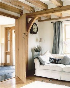 Merrys First House   Photo From Country Living. Bracket On Beam