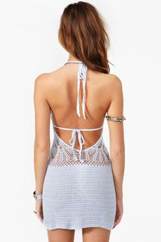 Daybreak Crochet Dress - Lilac