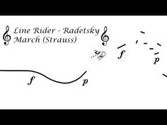 Line Rider - Radetzky March (Strauss) Active Listening, Listening Activities, Canti, Music Ed, Music Publishing, Line, March, Songs, Worksheets