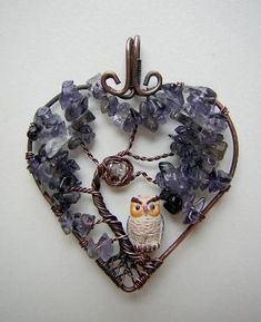 Iolite Tree of Life Wire Wrapped Pendant by RachaelsWireGarden, $50.00 by Susan VanOrder