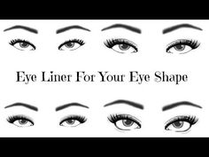 How To Figure Out Your Eye Shape by Smashbox - wow I never know there was certain eyeliner for different eye shapes! xo Marie