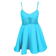 Sexy Cutout Waist Women Flare Dress
