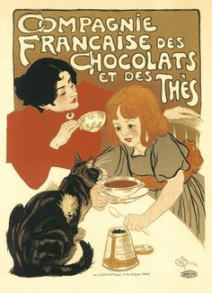 French Art Poster - Compagnie Francaise, Theophile Steinlen - 1895