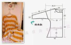 A publicação de hoje tem como objectivo facilitar o molde de camisola fácil de fazer para que possa costurar você mesma os seu modelos favoritos.
