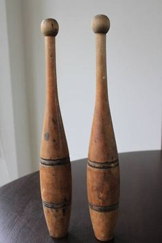 Old Antique  Wooden  Vintage Indian Juggling Pins by TimelessNchic