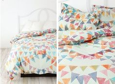 Ditsy Pennants bed linen pattern by Urban Outfitters
