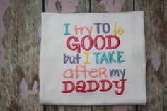 I try To be GOOD but I TAKE after by Honeybunnythreads on Etsy