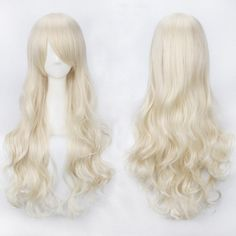 Ultra Long Inclined Bang Fluffy Curly Synthetic Party Wig