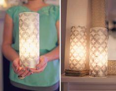 How To: Make Modern Tissue Paper Luminaries