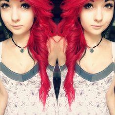 #red #pretty #scene #scenegirl #scenequeen #scenekid #emoscene #emogirl