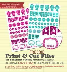 Free Download: DIY Planner Sticker Print
