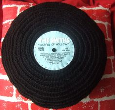 crocheted record albums