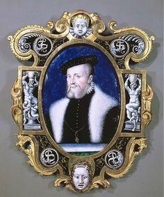 Léonard LIMOSIN:  Portrait of the Connétable de Montmorency.   ca. 1556