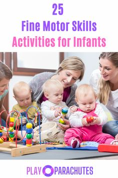 There are a variety of fun fine motor skills activities for infants that parents can facilitate at home...check them out here! #finemotorskills Tactile Activities, Fine Motor Activities For Kids, Motor Skills Activities, Speech Therapy Activities, Gross Motor Skills, Infant Activities, Natural Parenting, Parenting Tips, Kids And Parenting