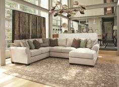 Linen Wilcot 4-Piece Loveseat Sectional View 1