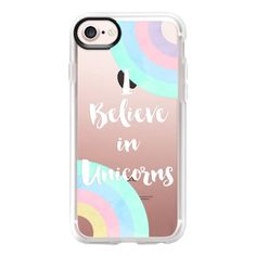 I Believe in Unicorns - iPhone 7 Case And Cover ($40) ❤ liked on Polyvore featuring accessories, tech accessories, phone cases, celular, phone, iphone case, apple iphone case, clear iphone case, unicorn iphone case and iphone cases