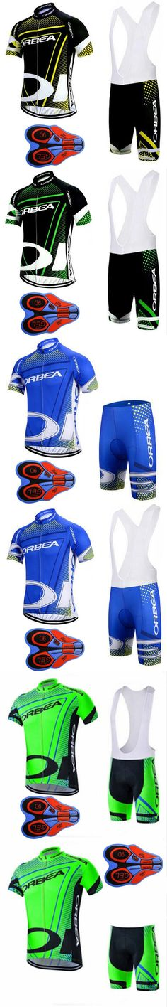 2017 Men orbea Pro Team Cycling Jersey bib shorts 9D Gel Pad set Breathable bicycle Clothes Bike Maillot Ropa Ciclismo hombreG12