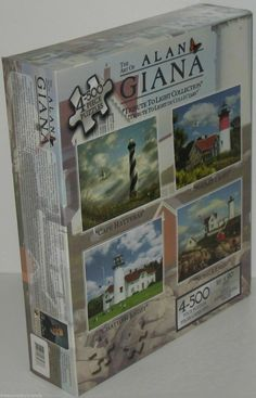 Alan Giana Lighthouse Jigsaw Puzzles TRIBUTE TO LIGHT New -- with Shelf Wear